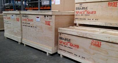 0 Space-Band's Wooden Crates Orange Came
