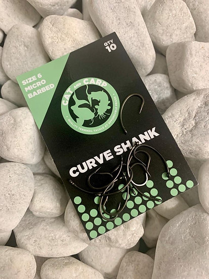 Hooks Curve Shank Size 6 Micro Barbed