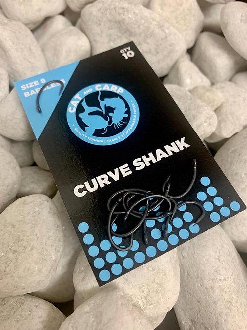 Hooks Curve Shank Size 8 Barbless