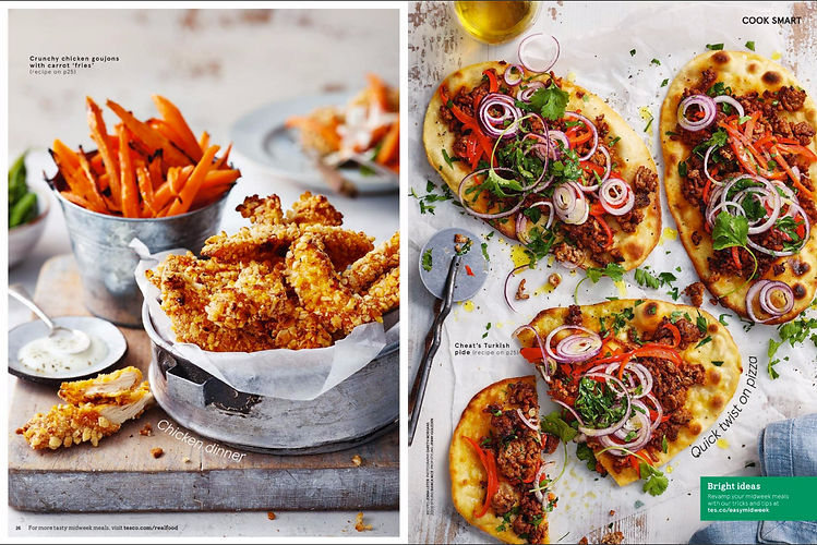 Recipes written for Tesco magazine; Styled by Bianca Nice and photographed by Toby Scott