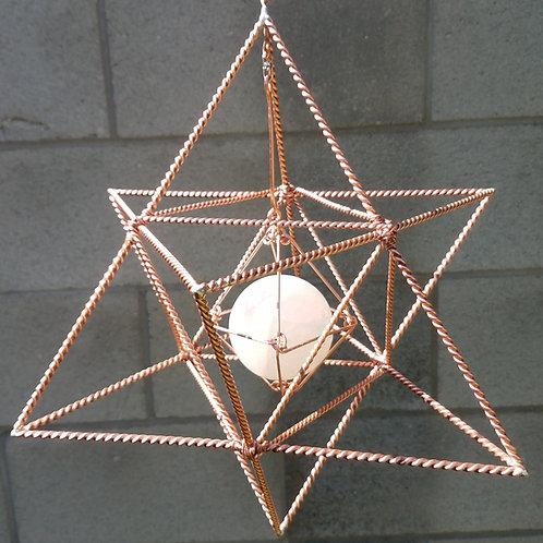 """Spinning Copper Merkaba/Star Tetrahedron/Merkabah Large 15"""""""