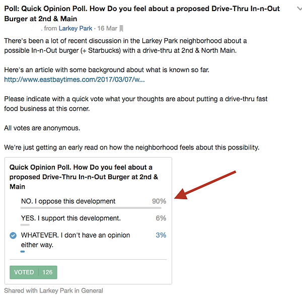 Nextdoor Larkey Park Poll