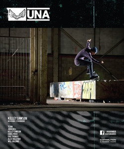 Kelley Dawson for Unabomber Skateboards published in Sidewalk Magazine.