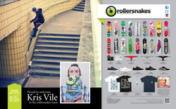 Kris Vile for Rollersnakes published in Sidewalk Magazine.