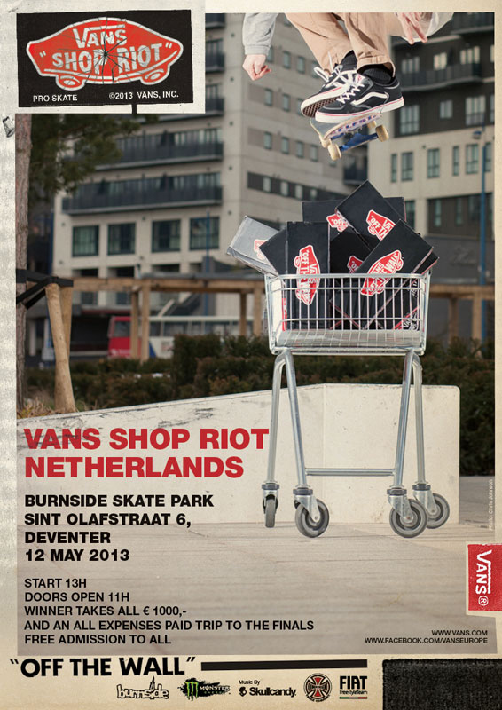 Kris Vile for Vans Shop Riots 2013 published in print media across Europe incliuding Kingpin Magazin