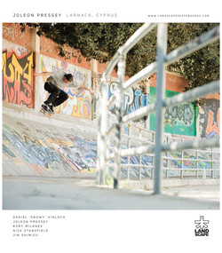 Joleon Pressey for Landscape Skateboards published in Sidewalk Magazine.