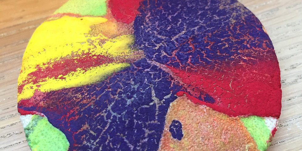 Air Dry Clay Spin Painting For Ages 7-11 (Free Event)