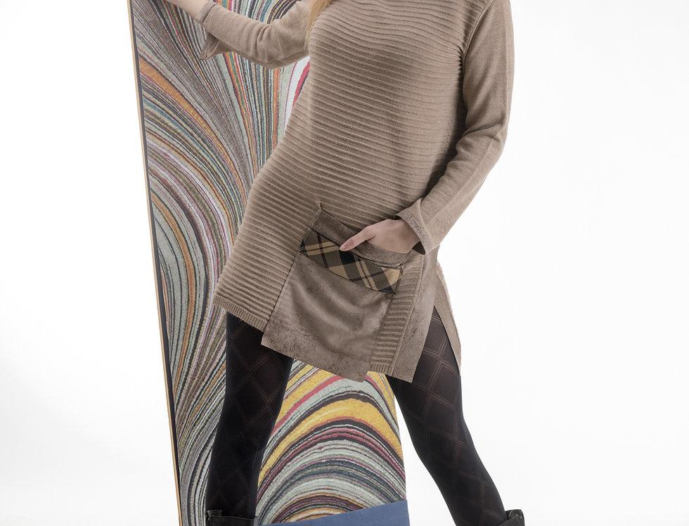 abito, abito in maglia, abito con tascone, maxi maglia,