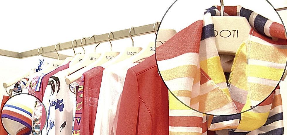 abiti della collezione Sidoti nello store Sidoti