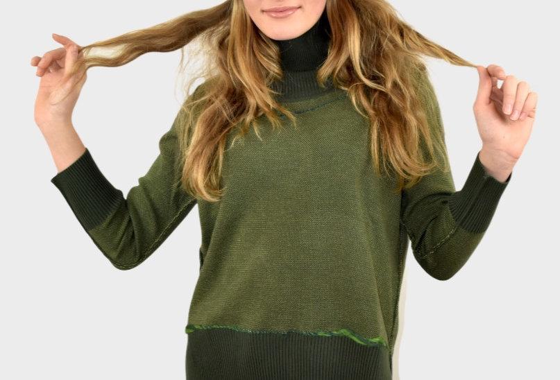 maglia, maglia fashion, maglia verde, maglione, maglia con bordi,