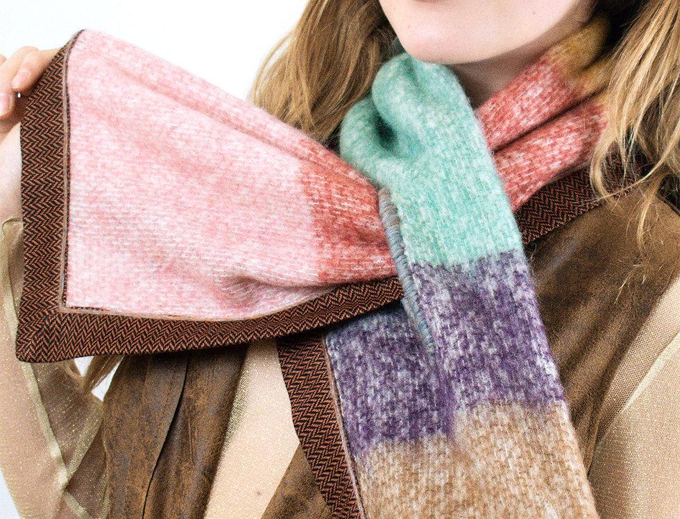 scalda collo, scaldacollo, sciarpa calda, sciarpa made in Italy, sciarpa con passante, sciarpa colorata, telaio,