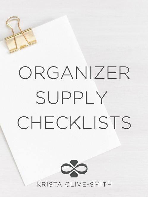 Organizer Supply Checklists