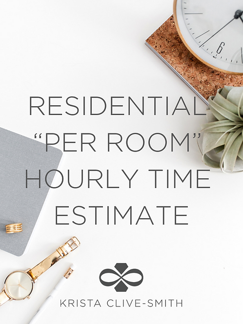 Residential Per Room Hourly Time Estimate Guide
