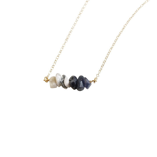 Sodalite & White Howlite Gemstone Necklace