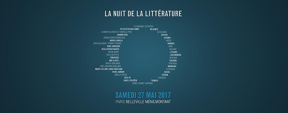 Nuit de la littérature 2017 - Belleville/ Ménilmontant