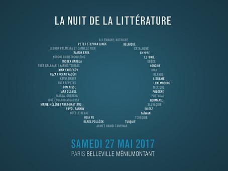 Nuit de la littérature 2017 - Belleville / Ménilmontant