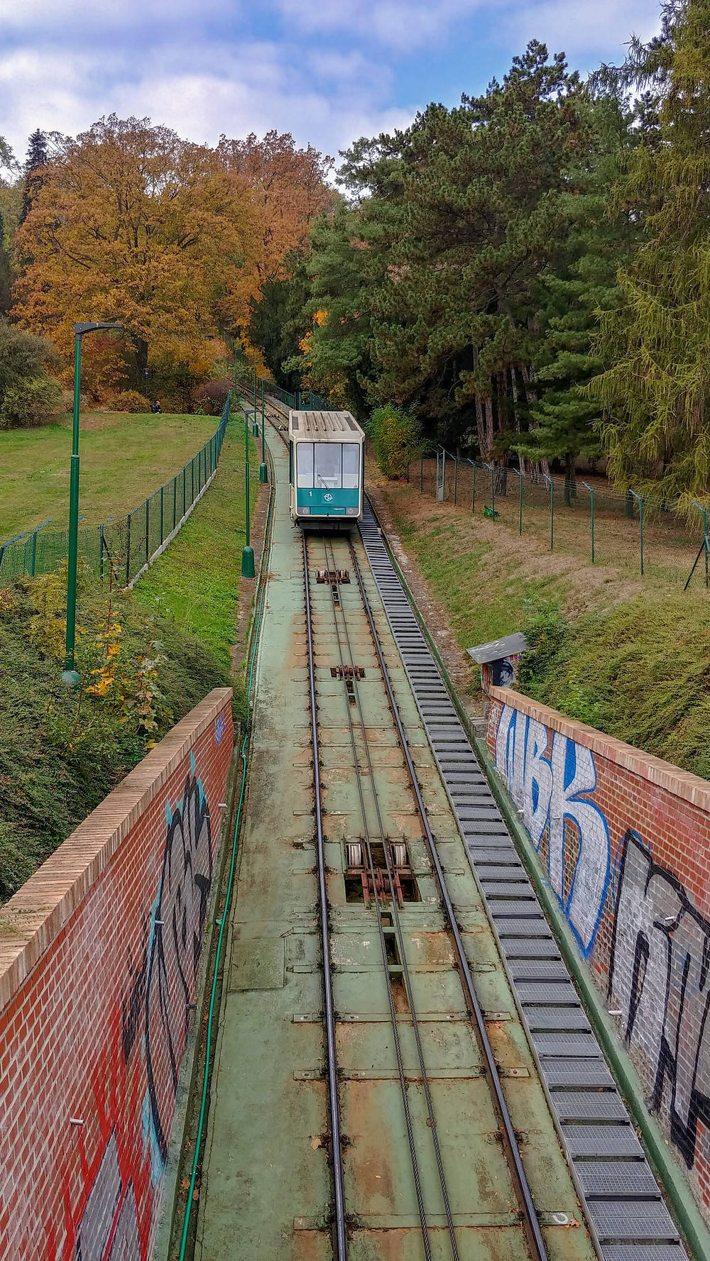 Funicular Petrinin kukkulalle Prahassa