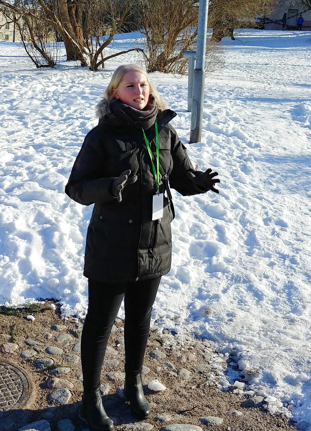 Suomenlinna-opas Anniina Honka