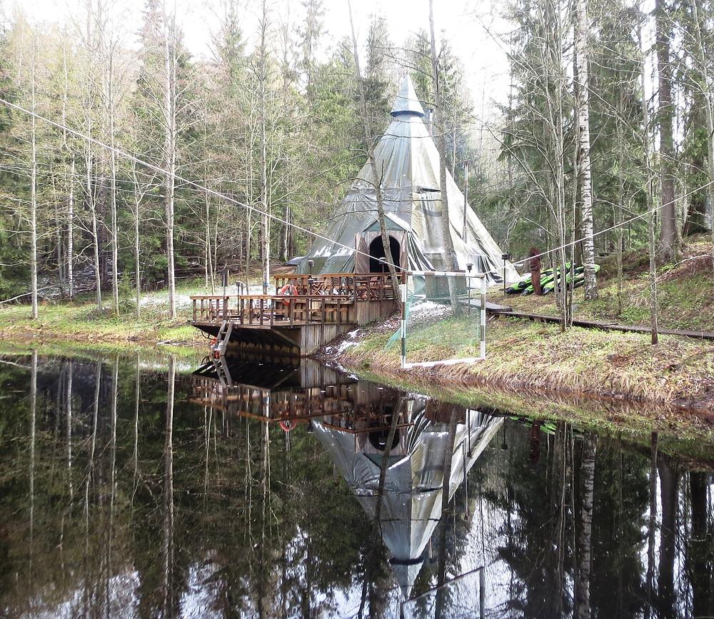 Luxury outdoor spa at Nuuksio National Park