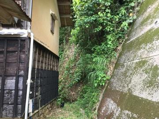 春野町弘岡上法面災害復旧保護工事が完成