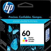 CARTUCHO ORIGINAL DE TINTA TRICOLOR HP 60 (CC643W)