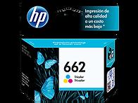 CARTUCHO ORIGINAL DE TINTA TRICOLOR HP 662 (CZ104AL)