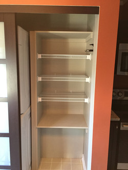 Inside the new pantry