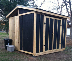 Gardening shed and wood storage