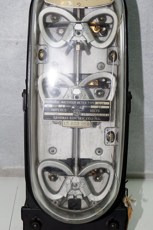 Polyphase Watthour Meter Mfg By General Electric