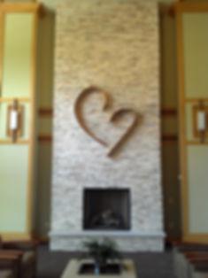 heart installed in Priest Retreat, Wisco