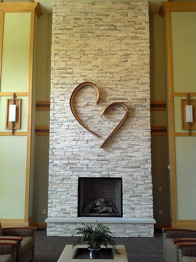 heart installed in Priest Retreat, Wisco
