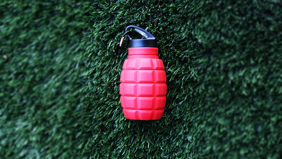 Red Silicone Water Bottle