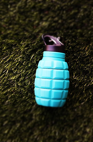 Lake Blue Silicone Water Bottle