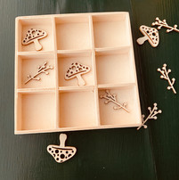 Tic tac toe game used as a practice tool for harp lessons and piano lessons