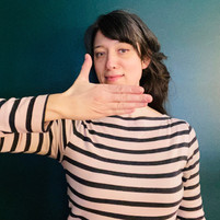 Stacey Loewen--piano teacher, harp teacher at Harp on the Hill Studio using Curwen Hand Signs as part of the Kodaly method
