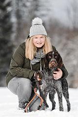 Carolina mit Jana im Schnee