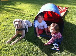 Training Kind und Hund