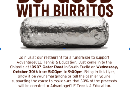 Chipotle Fundraiser this Wednesday