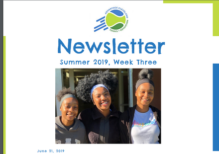 June 21 Newsletter (week 3 highlights)
