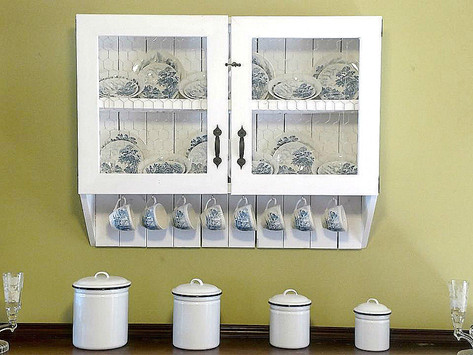 The Chicken Wire China Cabinet
