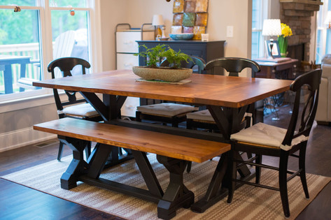 The Knox Table with Farmhouse Bench