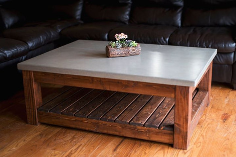 The JM Concrete Living Room Set