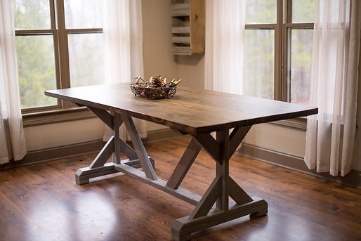 Stunning custom built farmhouse dining tables, banquettes, bedroom furniture, office furniture, outdoor furniture, living room sets, kitchen islands Atlanta GA