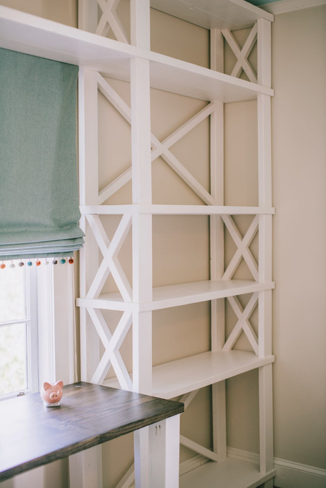 The Custom Mary Amelia Built-In Desk and Shelves