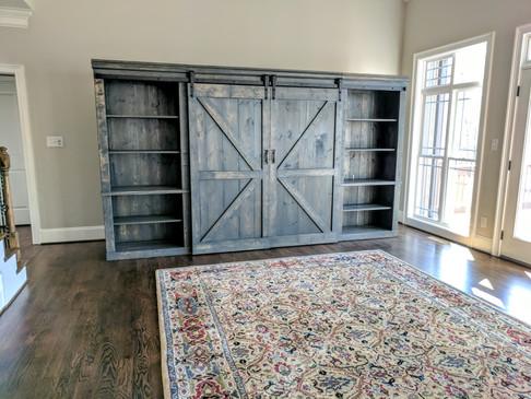 The Belsky Barn Door Etertainment Center
