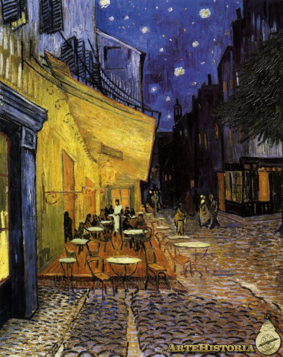 Reseña Terraza De Café Por La Noche