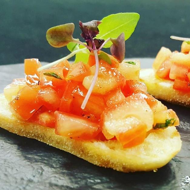 Tomatoes Basil Bruschetta