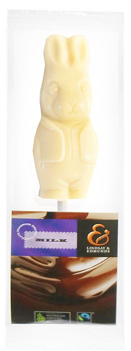 Belgian Organic White Chocolate Bunny Pop