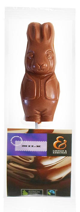 Belgian Organic Milk Chocolate Bunny Pop