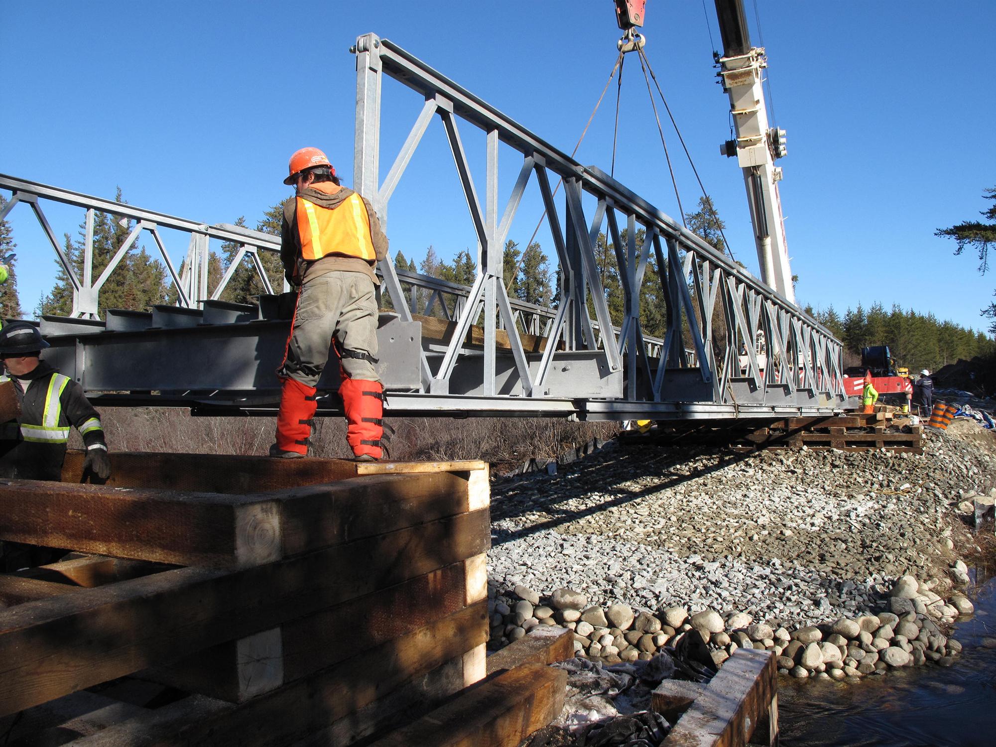 MNR Bailey bridge Timmins